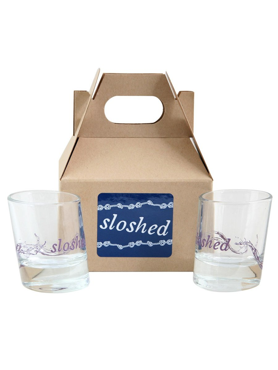 Fishs Eddy Sloshed Shot Glasses Set | Vegan Scene