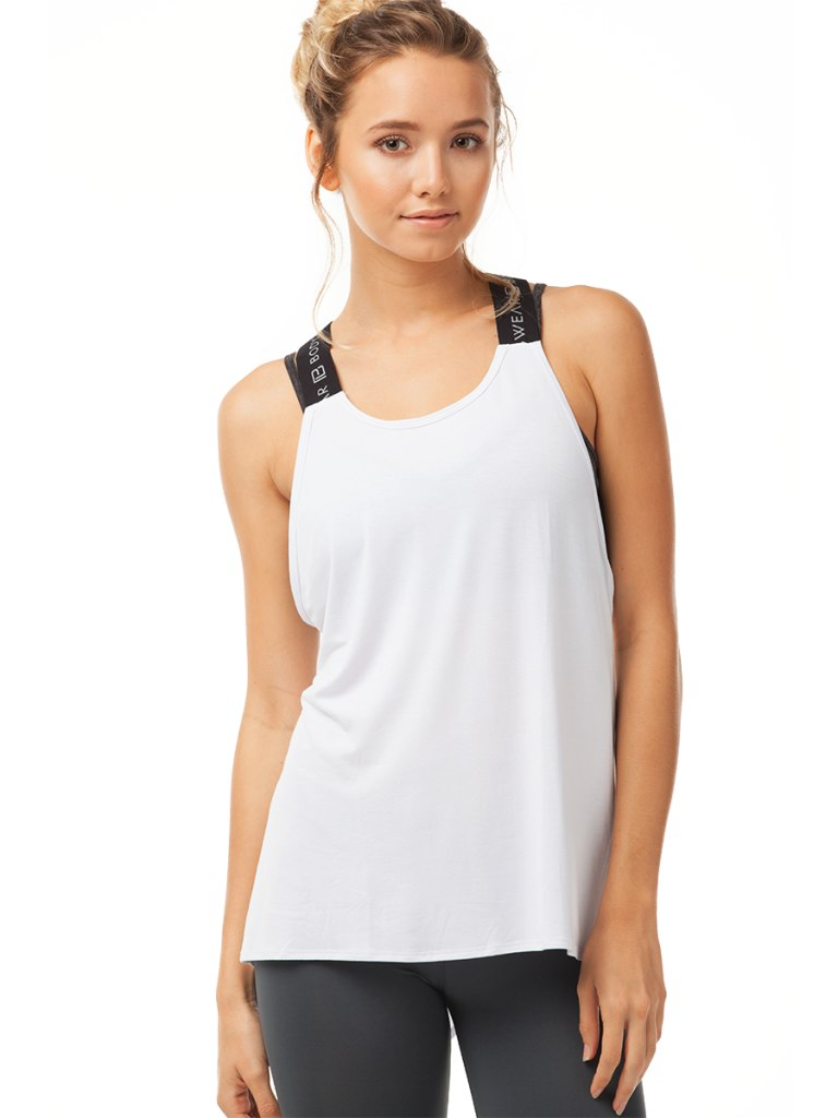 Body Language Elle Tank White | Vegan Scene