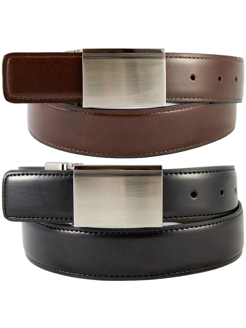 The Vegan Collection Alexander Reversible Belt | Black | Brown | Vegan