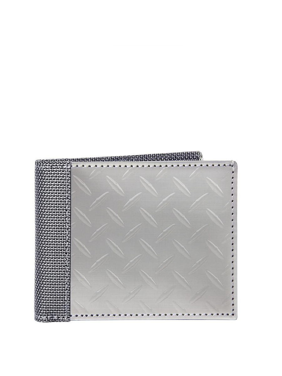 Steward/Stand Bill Fold Diamond Plate Silver