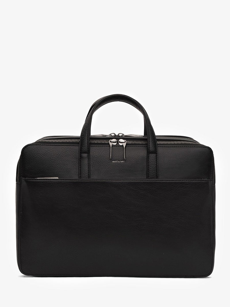 Matt & Nat Tom Briefcase Black | Vegan Scene