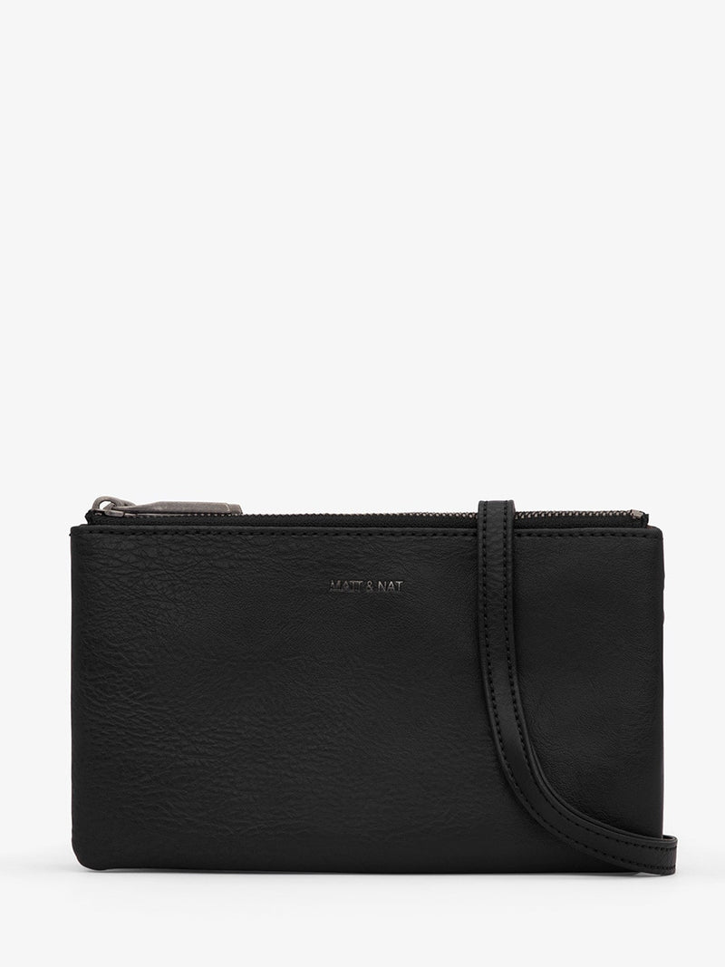 Matt & Nat Triplet Crossbody | Black | Vegan Scene