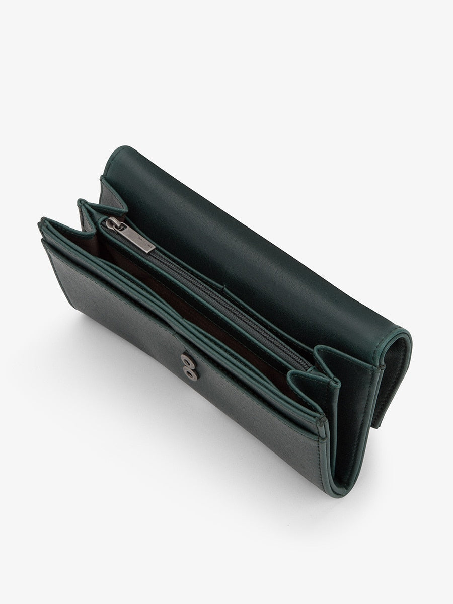Matt & Nat Vera Wallet Emerald | Vegan Scene