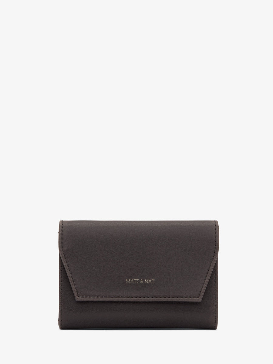 Matt & Nat Vera SM Wallet Charcoal | Vegan Scene