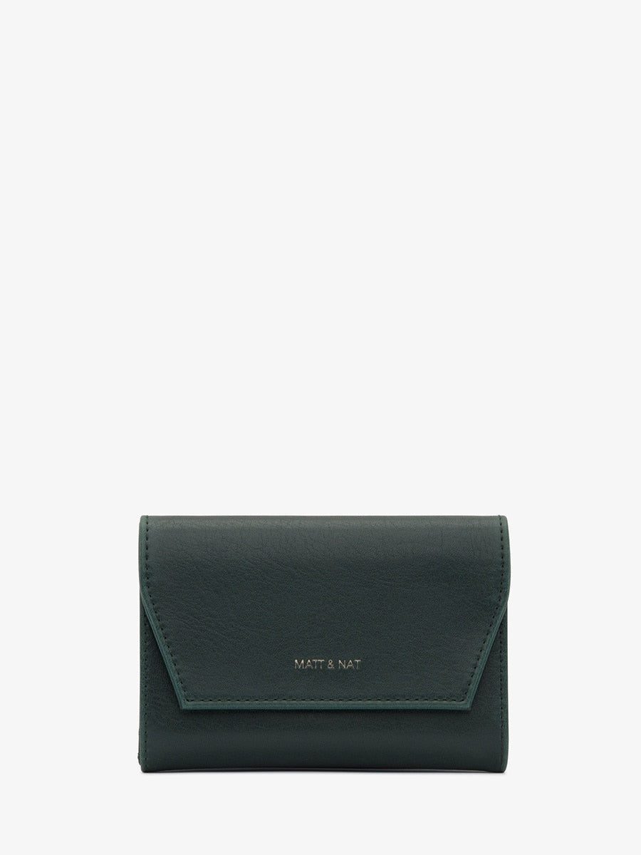 Matt & Nat Vera SM Wallet Emerald | Vegan Scene