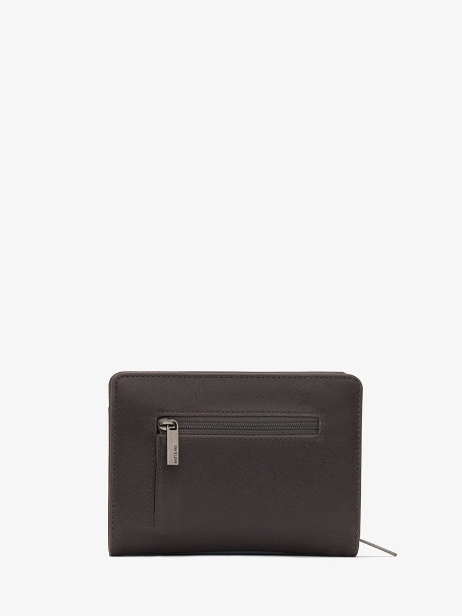 Matt & Nat Webber SM Wallet Charcoal | Vegan Scene