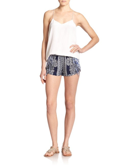 Corsica Voile Shorts With Fringe