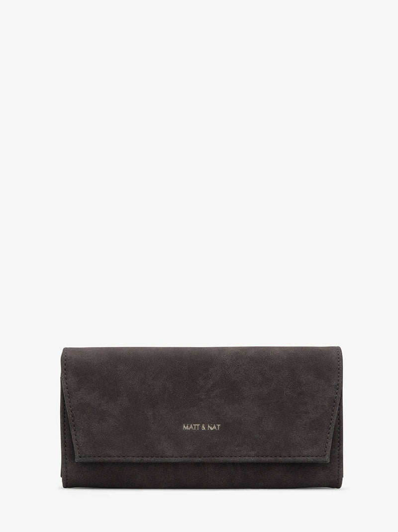Matt & Nat Vera Vegan Suede Wallet Grey | Vegan Scene
