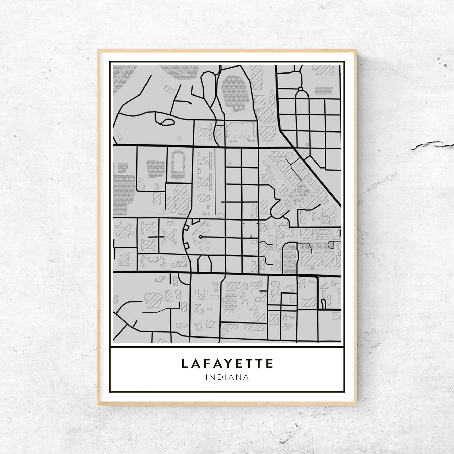 University Of Louisiana At Lafayette Campus Map.Golden Gate Design Co Custom Map Art Prints Of Your Favorite City