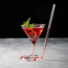 Load image into Gallery viewer, Straw Cocktail Glass
