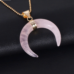 Natural Stones Moon Necklaces