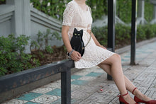 Load image into Gallery viewer, Black Cat Crossbody Bag