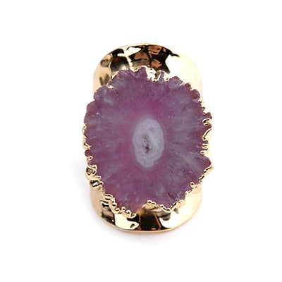 Natural Druzy Stone Ring