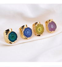 Load image into Gallery viewer, Natural Druzy Stone Ring