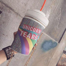 Load image into Gallery viewer, Unicorn Tears Cup Shoulder Bag