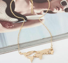 Load image into Gallery viewer, World Map Necklace