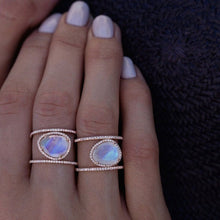 Load image into Gallery viewer, Moonstone Opal Boho Ring