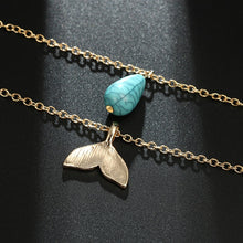 Load image into Gallery viewer, Mermaid Turquoise Necklace