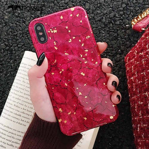 Marble Glitter Phone Case For iPhone