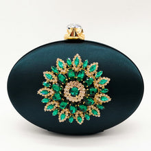 Load image into Gallery viewer, Elegant Emerald Evening Bag