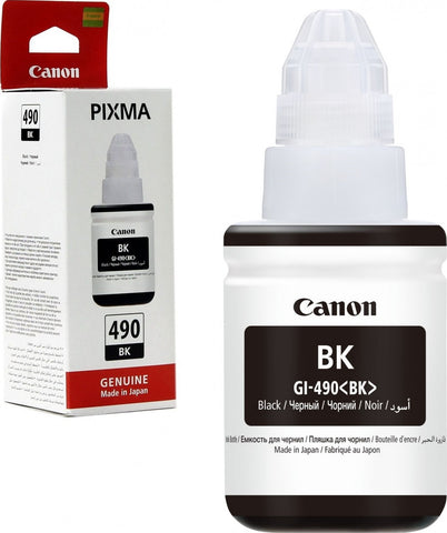 INK CANON OR 490 BLACK CYAN YELLOW MAGENTA  طقم كامل