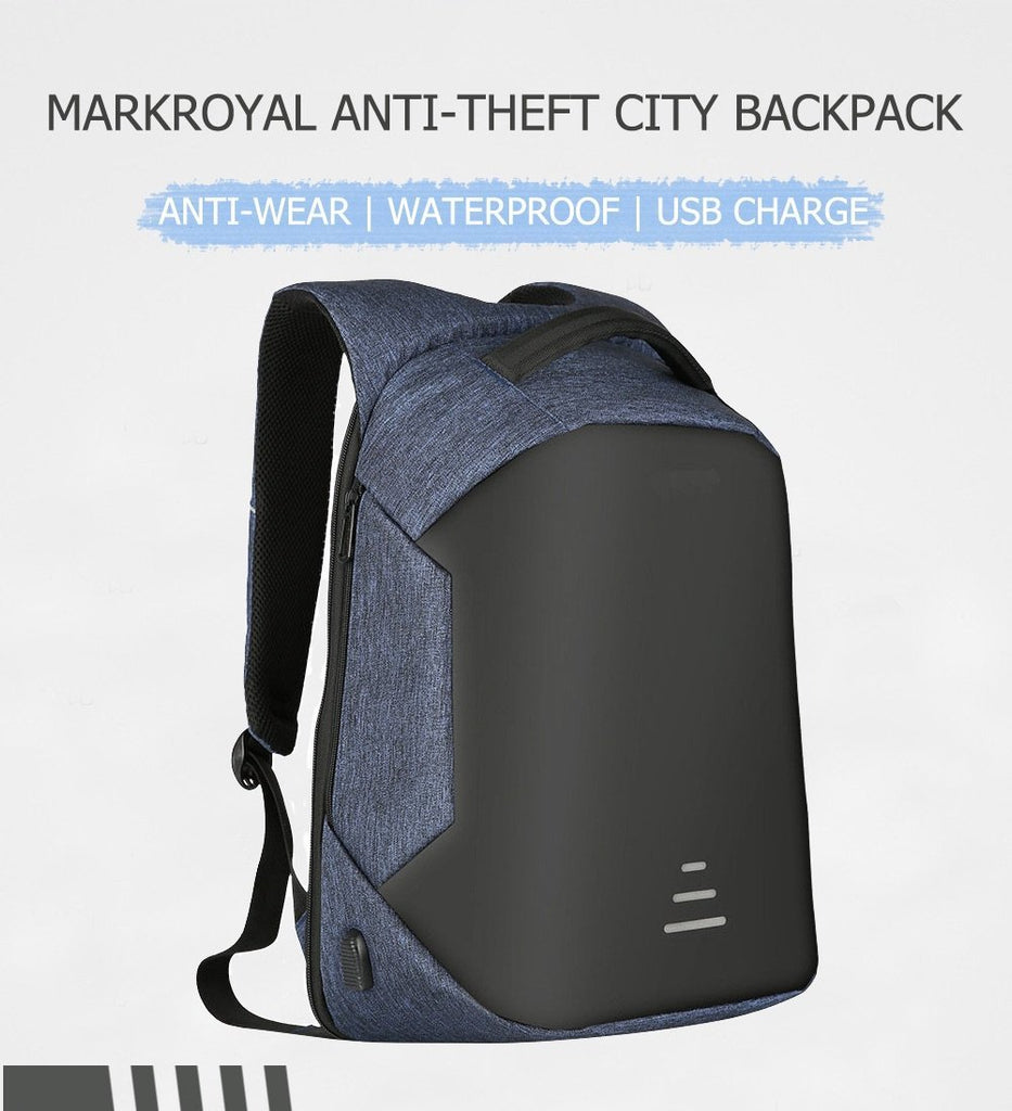 ANTI-THEFT MEN'S BACKPACK FOR 15.6 INCH LAPTOP WITH EXTERNAL USB - BLACK,BLUE,GRAY,RED backpackboutique.store
