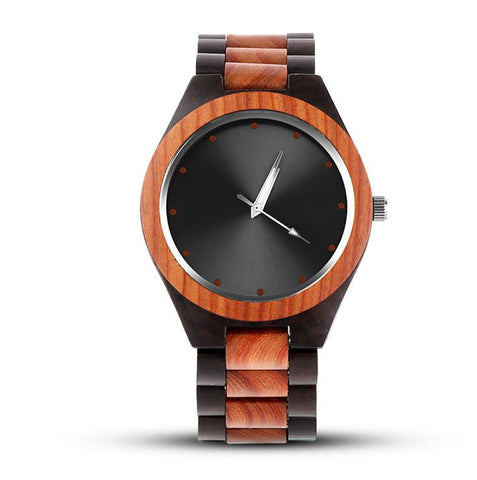 Men's Fashion 2-Tone Wood Wristwatch - backpackboutique.store