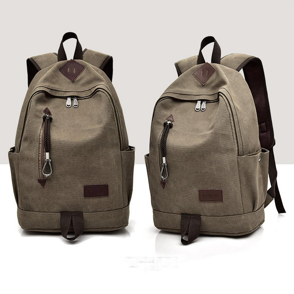 Casual Men's Canvas Backpack - Great for Travel/School - backpackboutique.store