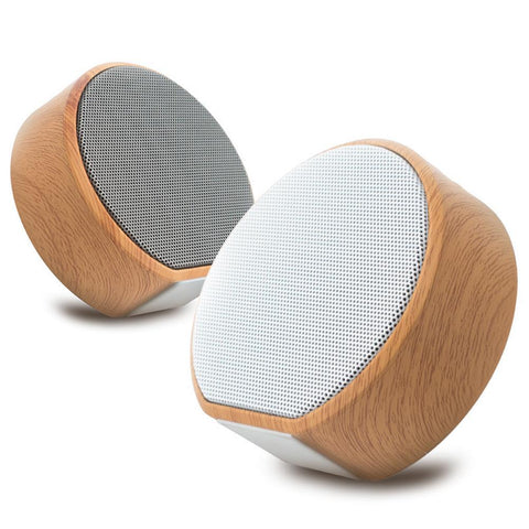 Retro Wood Bluetooth Mini-Speaker for iPhone Android - backpackboutique.store