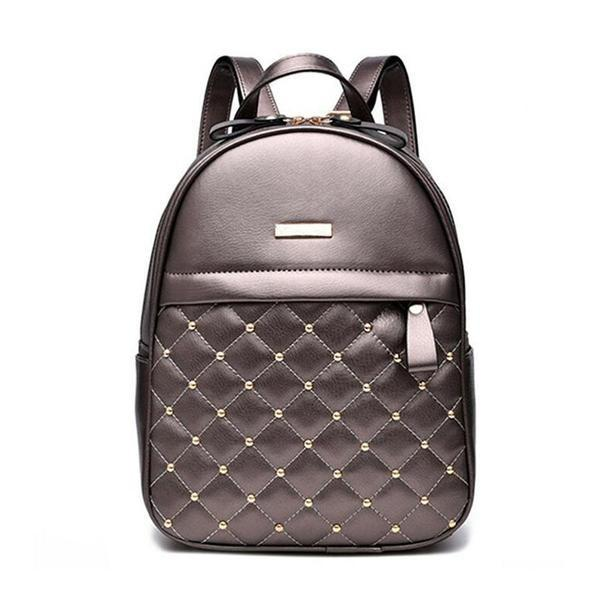 Women's Causal Bead Leather Backpack - backpackboutique.store