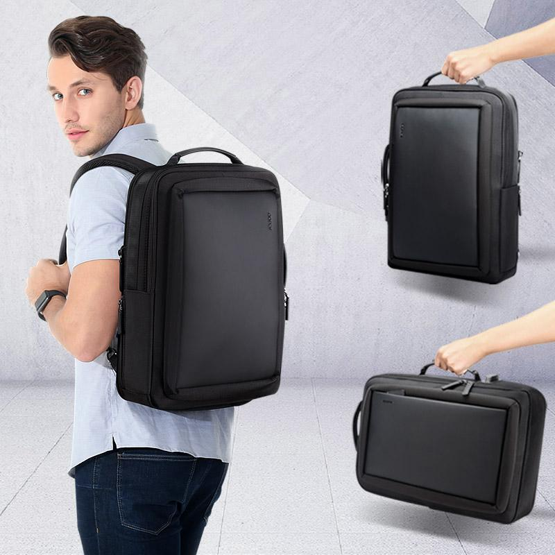 Men's Travel Waterproof-Leather Slim Laptop Backpack - backpackboutique.store