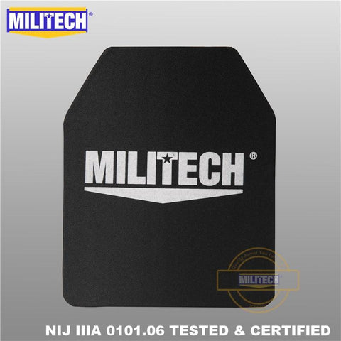 Backpack Boutique | MILITECH 10 x 12 Ultra Light Weight Bulletproof Insert Panel (NIJ IIIA Hard Armor Plate) - backpackboutique.store