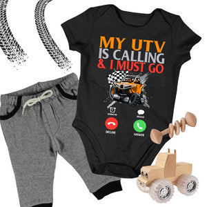 Baby Dirt Bike Onesie - My UTV Is Calling & I Must Go - Baby Bodysuit