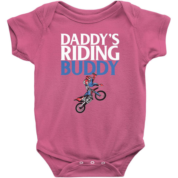 Baby Dirt Bike Onesie - Daddy's Riding Buddy - Baby Bodysuit-Onesie-Fast Life - Full Throttle