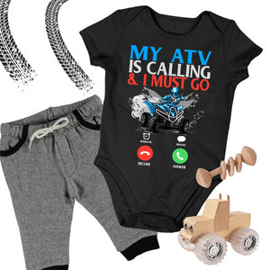 Baby ATV Onesie - My ATV Is Calling & I Must Go - Baby Bodysuit