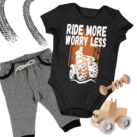 Baby ATV Onesie - Ride More Worry Less - Baby Bodysuit