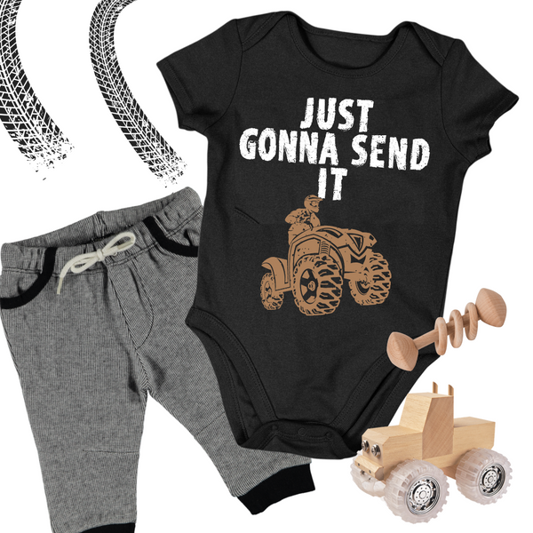 Baby ATV Onesie - Just Gonna Send It ATV Baby Onesie Bodysuit
