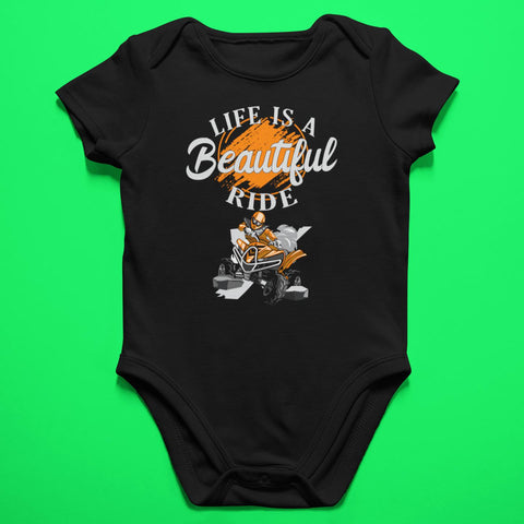 Baby ATV Onesie - Life Is A Beautiful Ride - Baby Bodysuit-Onesie-Fast Life - Full Throttle