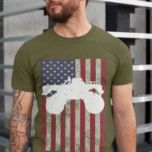 Mens Truck Shirt - US Flag Monster Truck