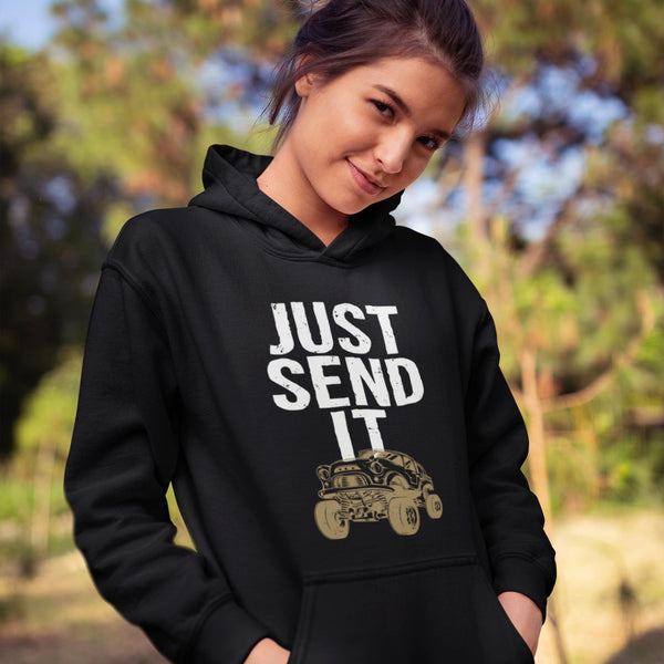 Mudding Hoodie - Just Send It Mudding Hoodie-Adult Hoodie-Fast Life - Full Throttle