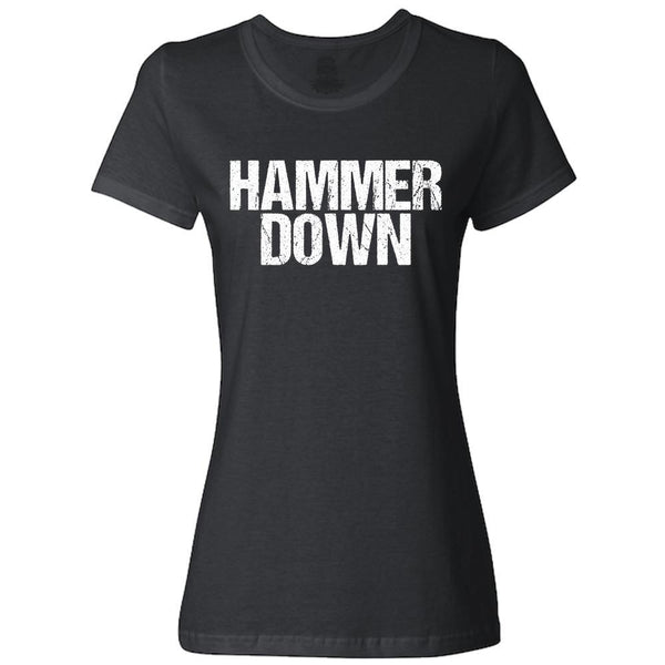 Keep Calm and Hammer Down Women's Fit Short Sleeve T-Shirt-Ladies Classic Tees-Fast Life - Full Throttle