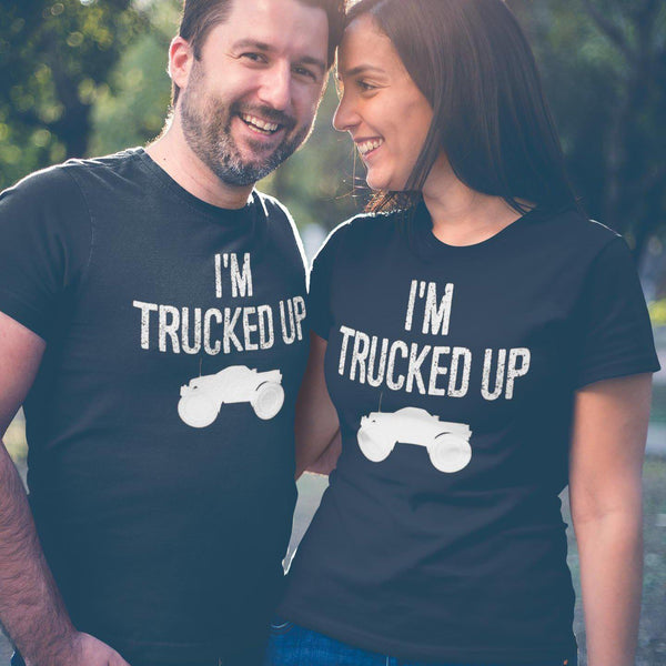 Trucked Up Fucked Up Truck T-Shirt-Adult Unisex T-Shirt-Fast Life - Full Throttle