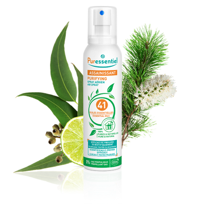 Puressentiel Purifying Air Spray 200 ml - Patented Formula - Air & Surfaces - 100% Natural Origin and Fragrance - Pure Essential Oils - Propellant Gas and Aerosol Free