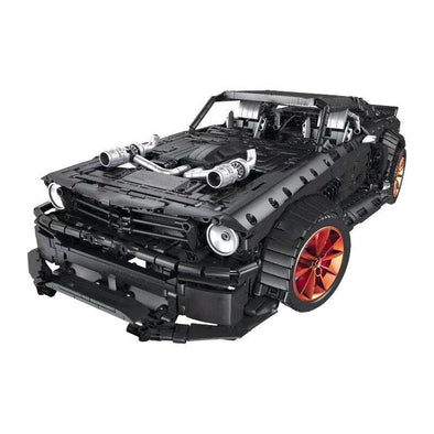 3168pcs Ford Mustang Hoonicorn RTR V2 Model Bricks Legoningly RC Technic Racing Car Led Light MOC Building Block Toys for Kids