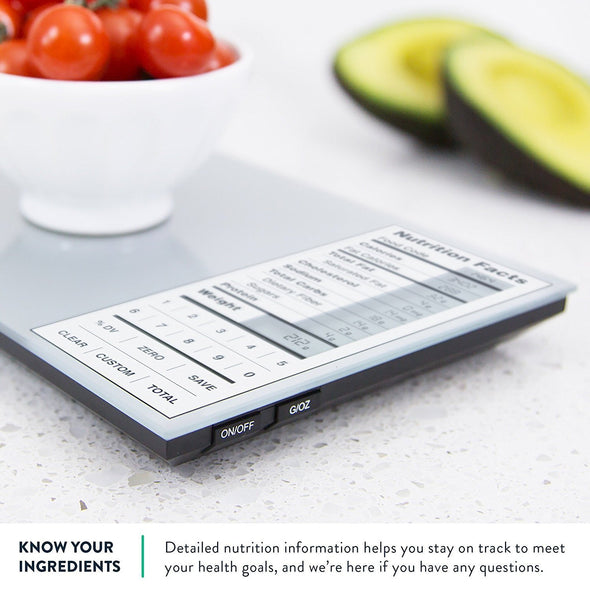 Kitchen Scale With Nutritional Facts
