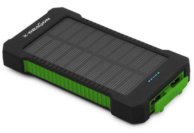 Solar Powered Dual-USB Power Bank