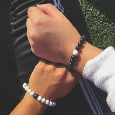 2-Piece Long Distance Bracelet for Couples