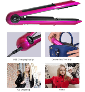 2 in 1 Rechargeable Hair Curler