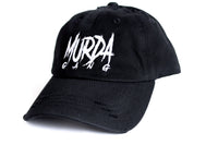 "Murda Gang ""OG"" Distressed Dad Hat (Black)"