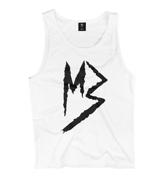 "Murda Gang ""MB"" Tank Top (White/Black)"